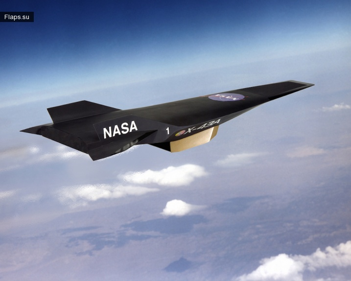 Самый быстрый самолёт в мире — X-43A