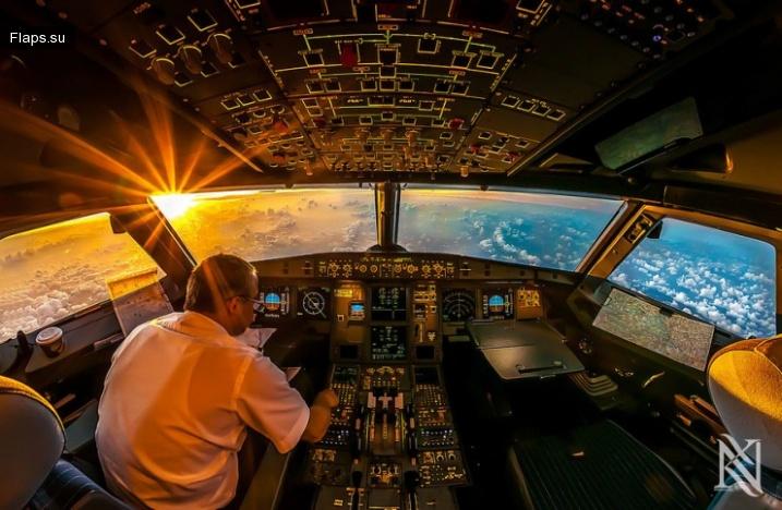 Удивительные фотографии из кабины пилота