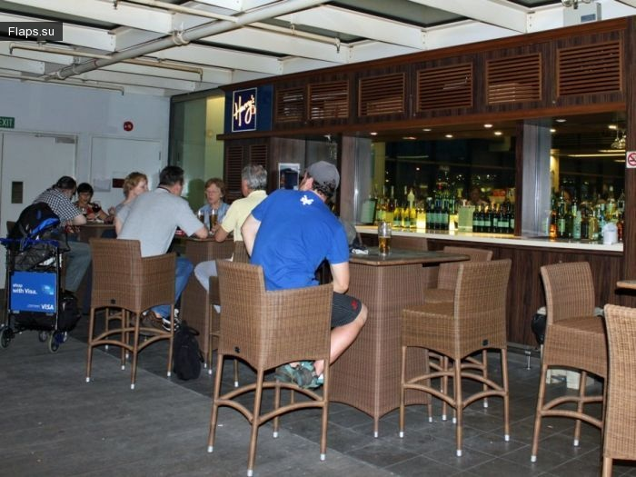 Бар в аэрогаване будущего — аэропорт Чанги