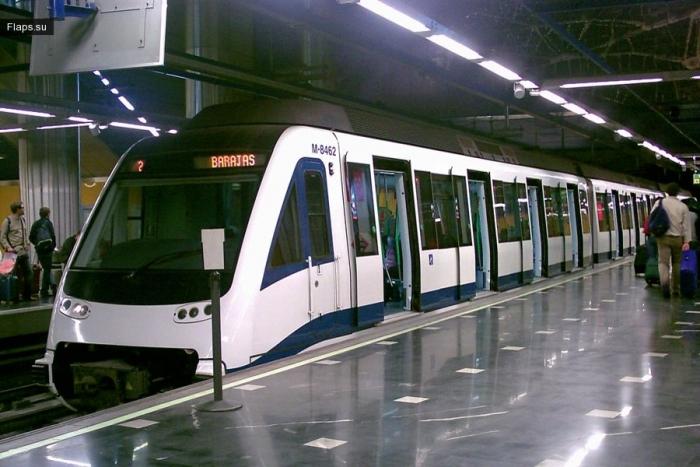 Поезд пригородного сообщения из а/п Барахас