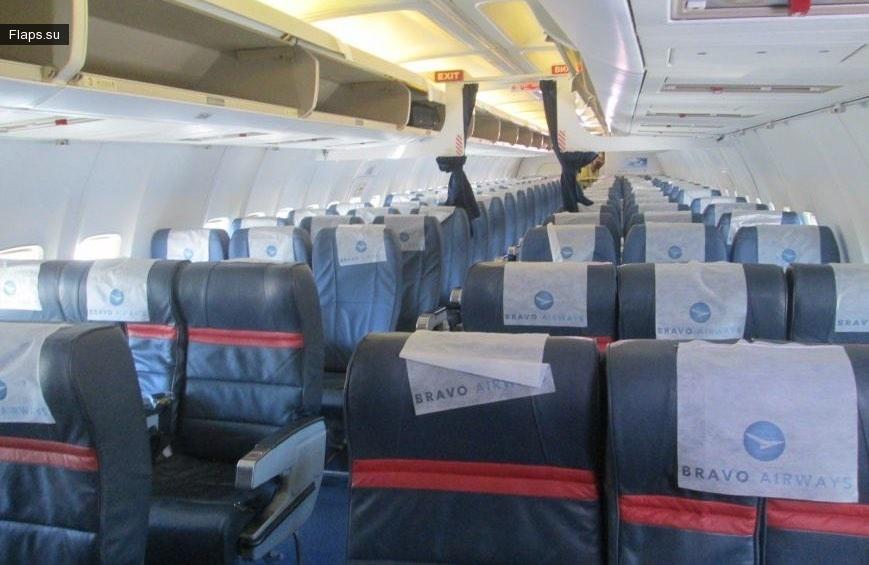На борту воздушного судна Bravo Airways