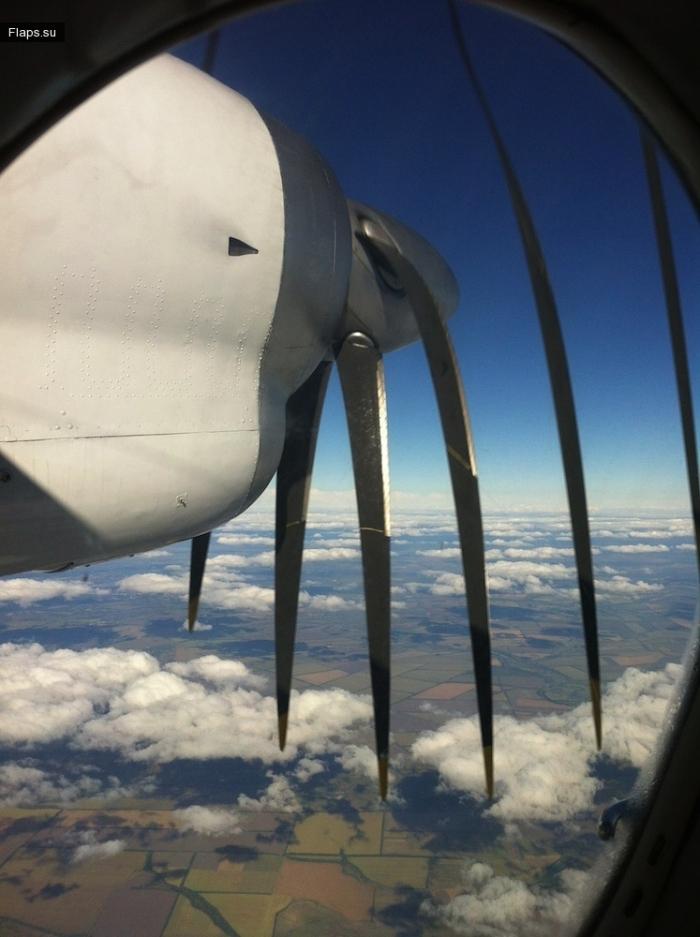 Ряды 1-4 борта Ан-24 находятся в непосредственной близости от двигателей