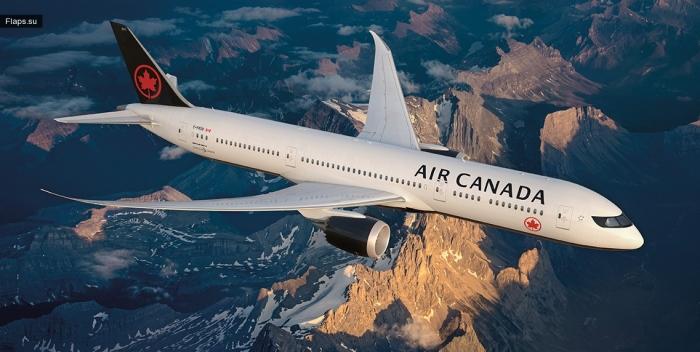 Новая ливрея Air Canada