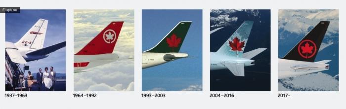 Эволюция логотипа Air Canada