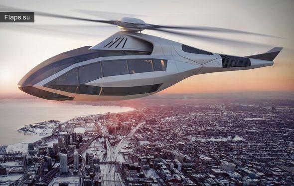 Концепт пассажирского вертолета будущего от американсокой компании Bell Helicopter