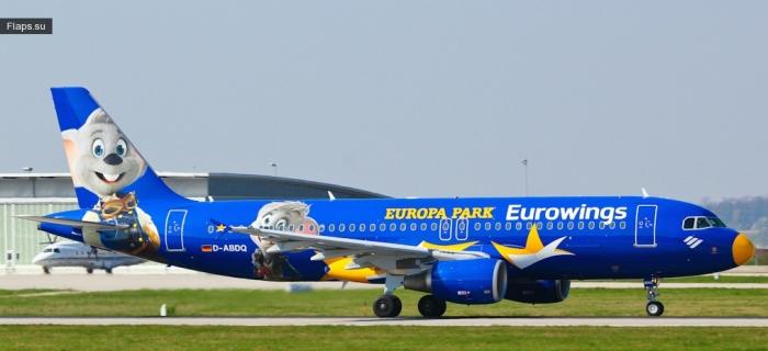 "Eurowings / Airbus A320-214 / D-ABDQ ""Europa Park"""