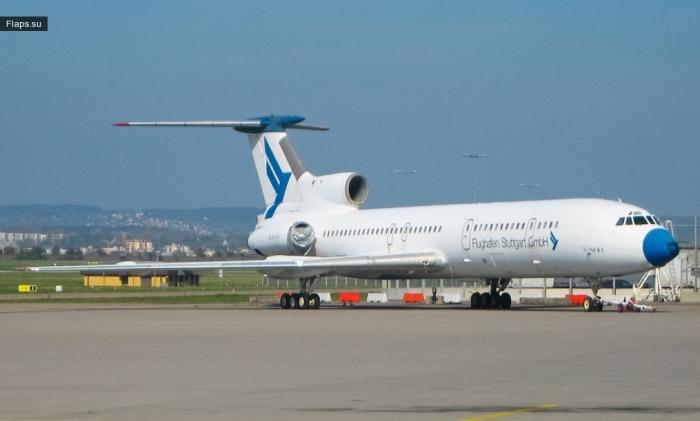 Tу-154B-2 / D-AFSG / Flughafen Stuttgart